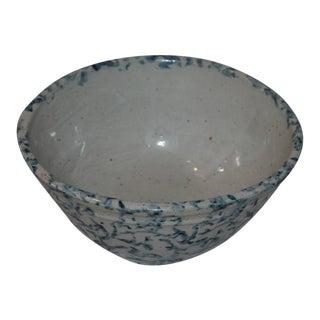 Unusual Mini 19th Century Spongeware Mixing Bowl
