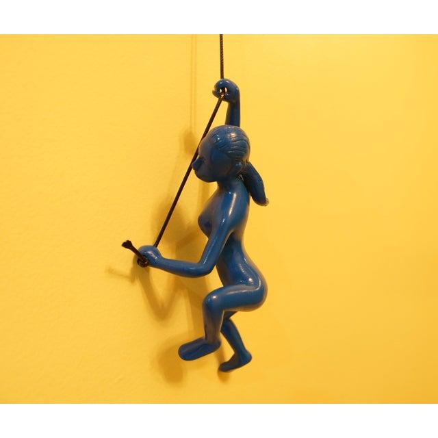 Blue Climbing Girl Wall Art - Image 2 of 5