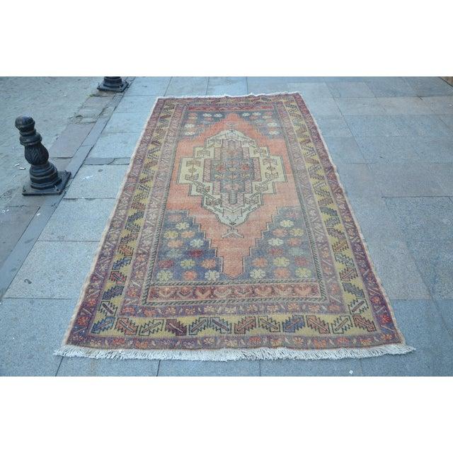 Turkish Tribal Floor Rug - 4′9″ × 8′10″ - Image 2 of 6