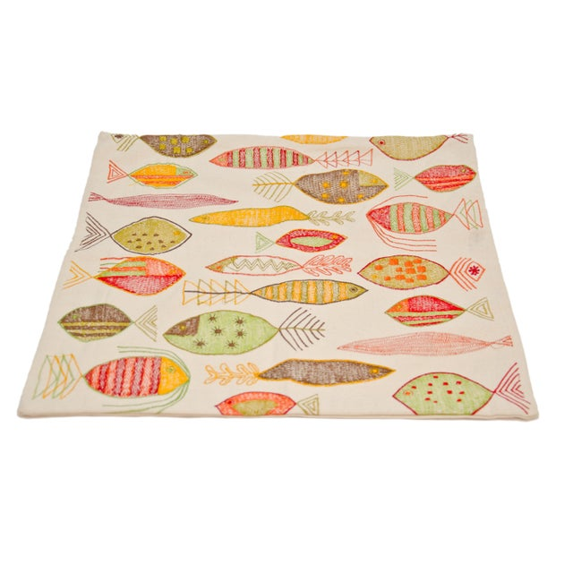 Image of Throw Pillow Shams With Fish Print - A Pair