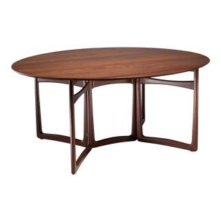 Peter Hvidt Drop-Leaf Desk or Dining Table, Denmark, 1960s