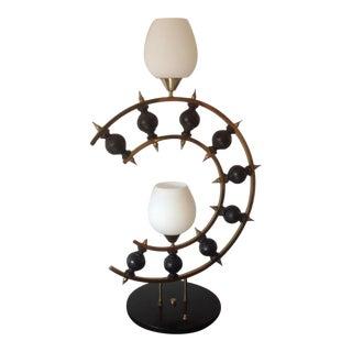 Mid-Century Laurel Brutalist Lamp