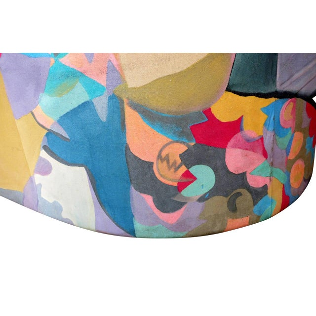 1980s Hand-Painted Chaise by Robert Fisch - Image 5 of 9