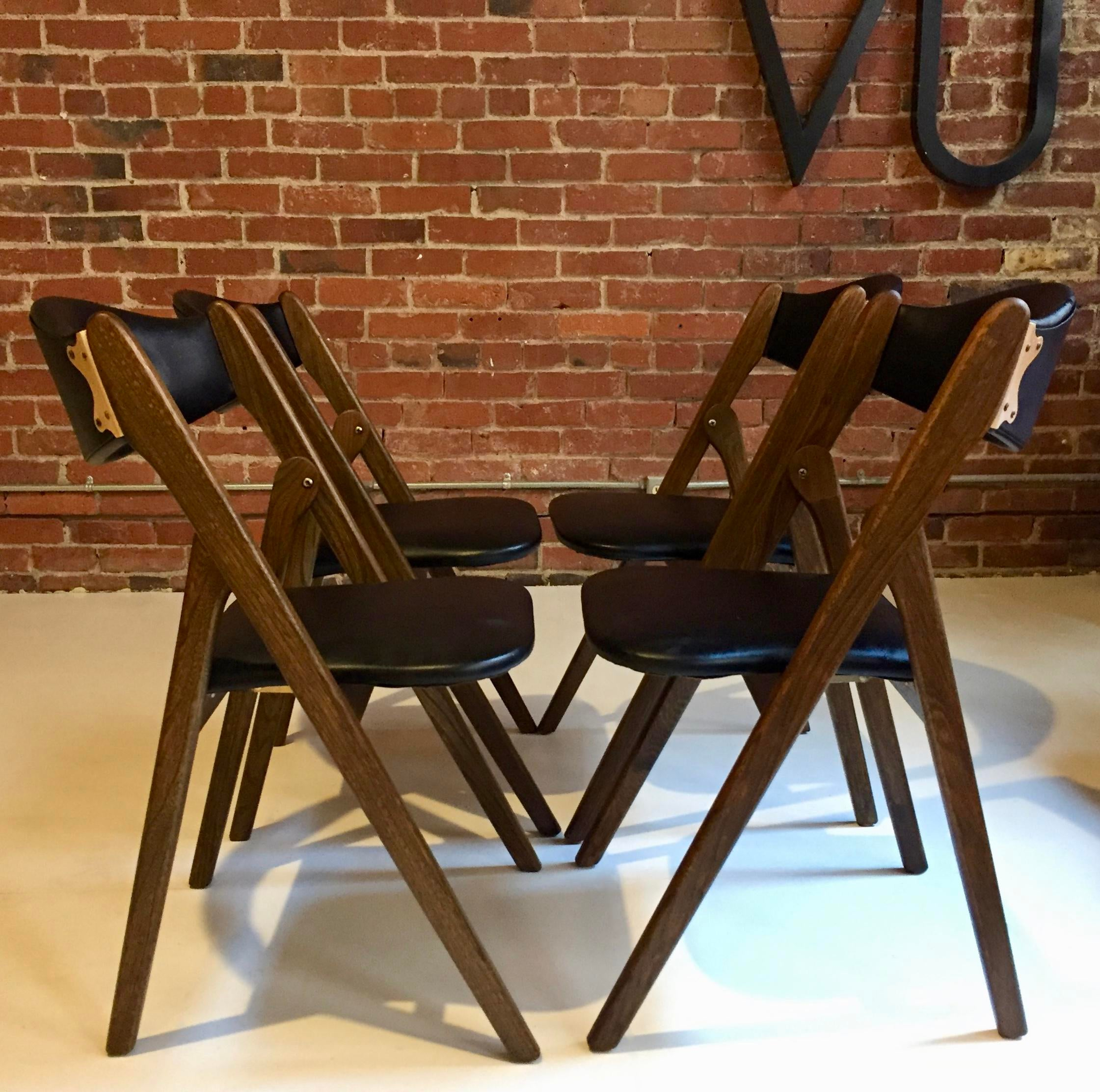 1960 S Norquist Coronet Wonderfold Chairs Set Of 4 Chairish
