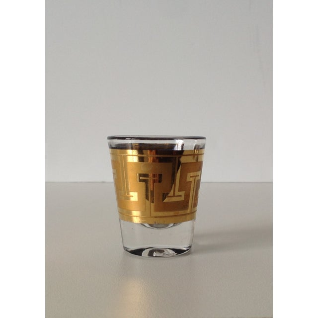 "Gilt ""Greek Key"" Shot Glasses - Set of 5 - Image 4 of 6"