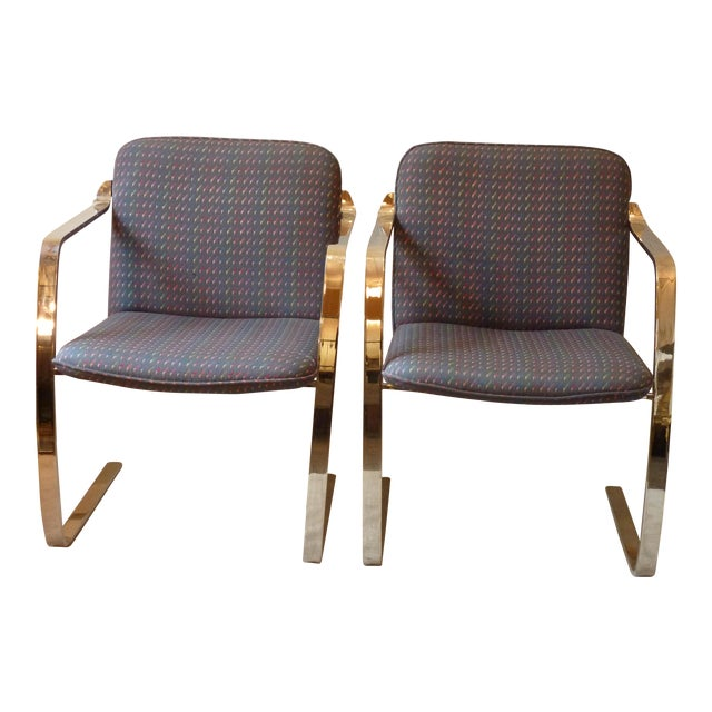 Modern Bruno Style Chairs - A Pair - Image 1 of 5