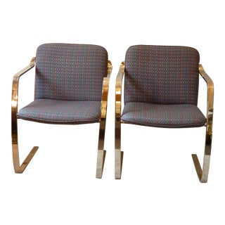 Modern Bruno Style Chairs - A Pair