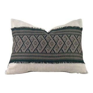 Green Geometric Pillow Cover
