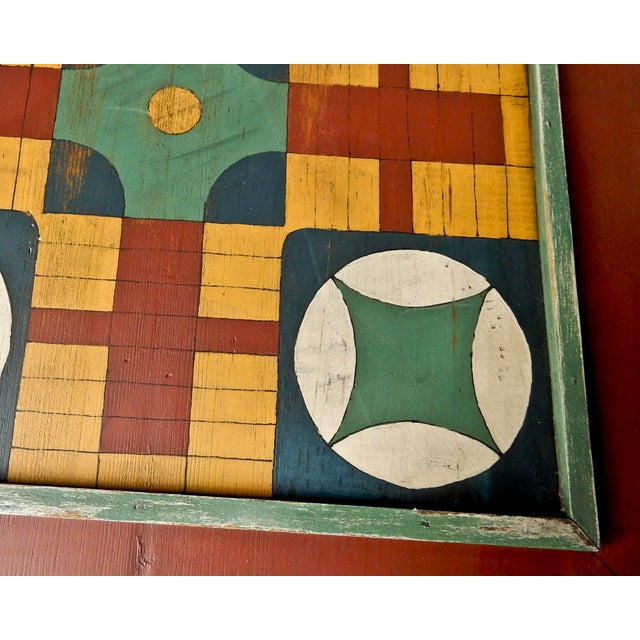 Hand Painted Parcheesi & Checkers Gameboard - Image 5 of 6