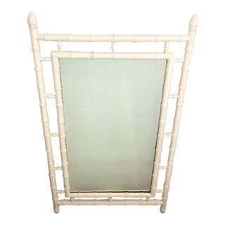Hollywood Regency Florentia Faux Bamboo Wall Mirror