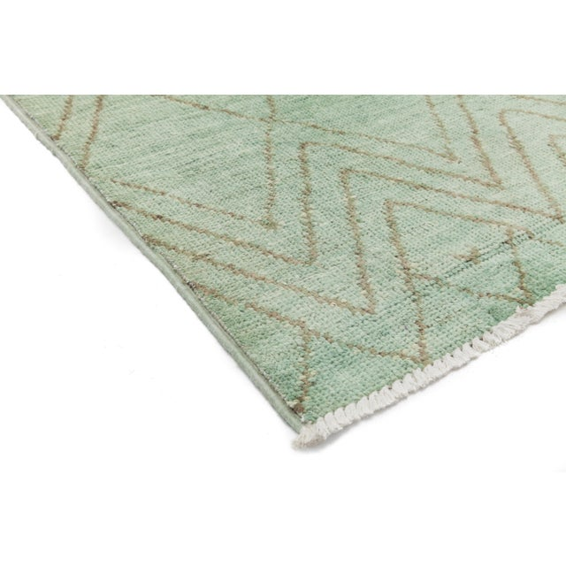 """Moroccan Hand Knotted Area Rug - 4'1"""" X 6' - Image 2 of 3"""