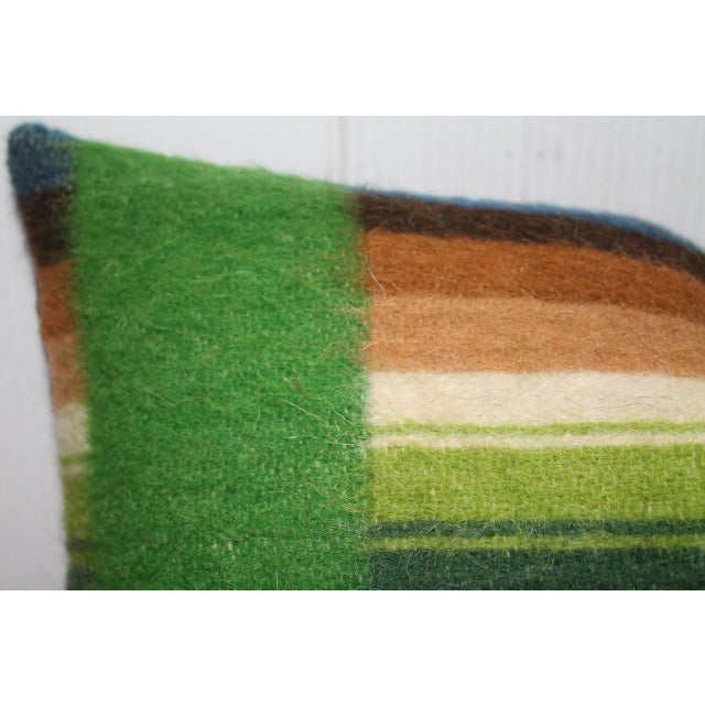 Pair of 19th Century Wool Horse Blanket Pillows - Image 3 of 4