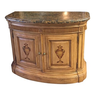 Hand Painted Demi-Lune Console