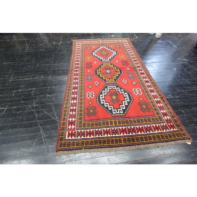 Apadana - Persian Red Geometric Rug - 4' x 7' - Image 3 of 3