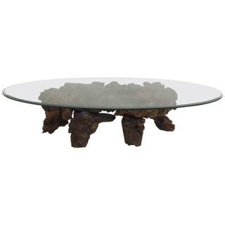 Californian Burl Wood Coffee Table
