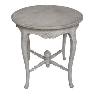 Gustavian Style Round Side Table (#62-25)