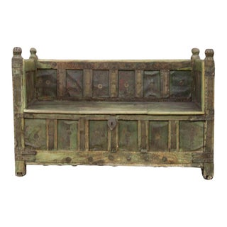 Painted Wooden Box Bench