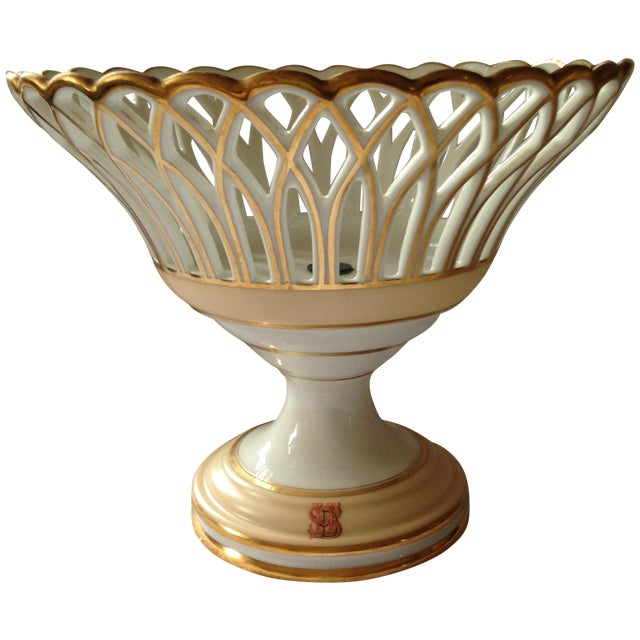 Image of 19th Century French Porcelain Corbeille