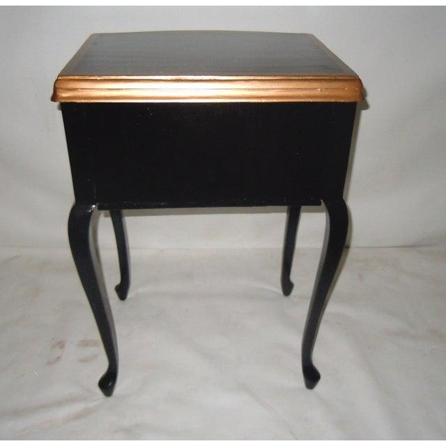 30s Mid Century Ebony Side Table - Image 5 of 8