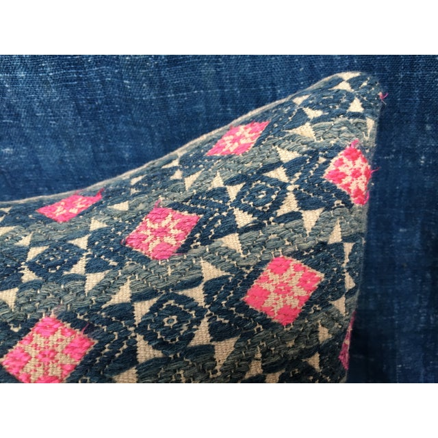 Image of Antique Tribal Wedding Quilt Pillow