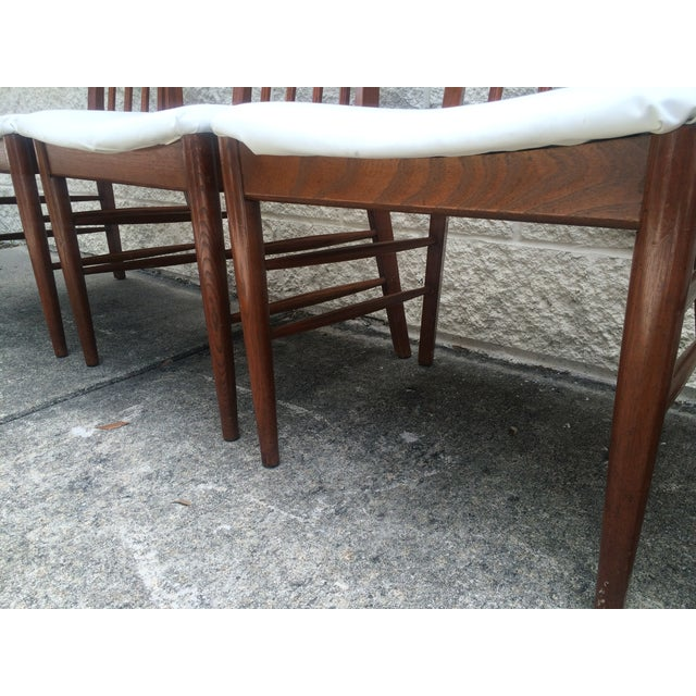 Mid-Century Oak Dining Chairs - Set of 4 - Image 6 of 7