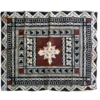 Vintage Figian Tapa Bark Cloth Panel