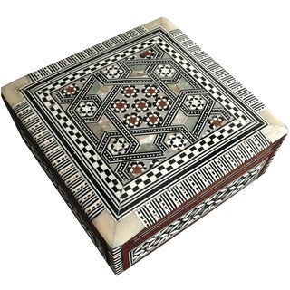 Bone & Mother of Pearl Inlaid Box