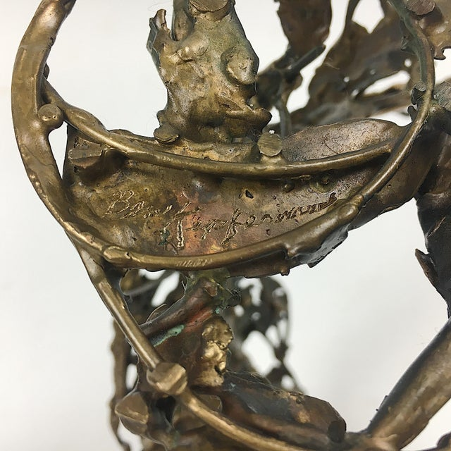 Ben Kupferman Bronze Sculpture With Malachite - Image 6 of 6