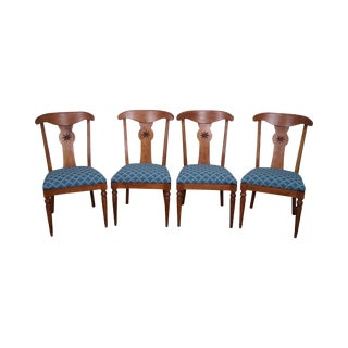 Ethan Allen Country Crossings Maple Dining Chairs - Set of 4