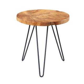 Teak & Iron Side Table