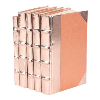 Metallic Collection Rose Gold Books - Set of 5