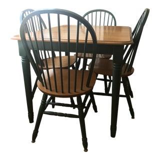 Farmhouse Pine Wood Dining Set