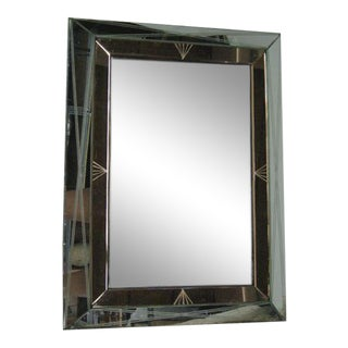 French, 1940s Modern Neoclassical Mirrored Frame Mirror