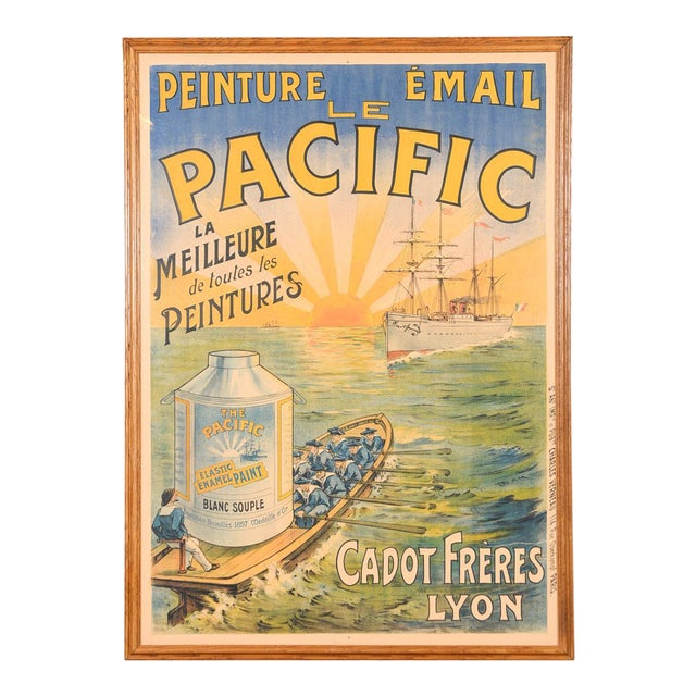 Traditional Le Pacific Enamel Paint French Poster - Image 1 of 10