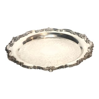 Poole Round Footed Silver Plated Tray
