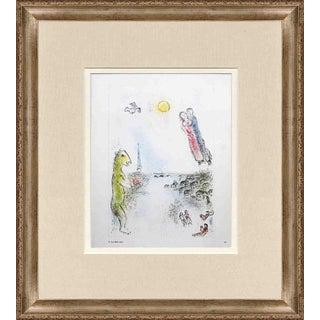 "Marc Chagall ""Les Deux Rives"" 1981 Framed Poster"