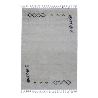 Contemporary Plush Rug with Moroccan Design - 5'4''x8'