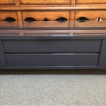 Image of Charcoal Lacquer Media Cabinet with Custom Glass