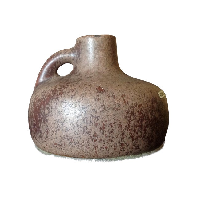 Image of Otto Keramik Chocolate Brown Art Pottery Jug