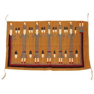Vintage Yei Woven Navajo Rug - 2′3″ × 3′8″