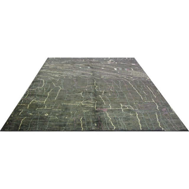 Indian Natural Hemp Rug - 8′ × 9′10″ - Image 1 of 4