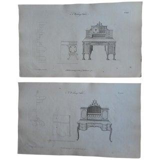 Antique Folio Chippendale Furniture Engravings - 2