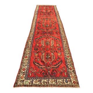 "Vintage Persian Hamadan Runner Rug - 3'5"" X 15'11"""
