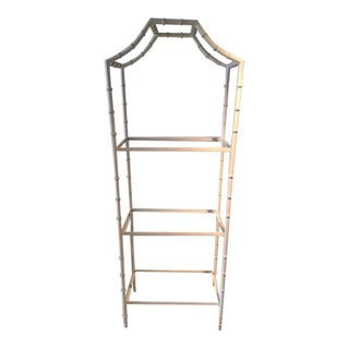 Vintage Faux Bamboo Etagere