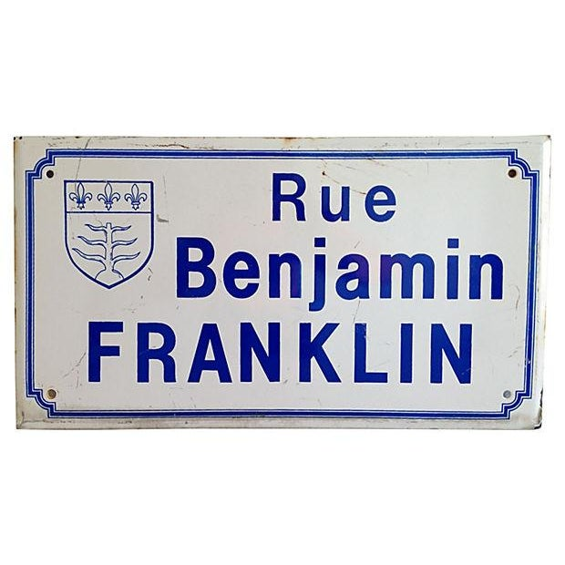 1950s French Road Sign - Image 1 of 2