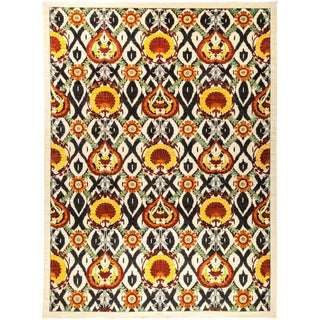 """Suzani Hand Knotted Area Rug - 10'1"""" X 13'5"""""""