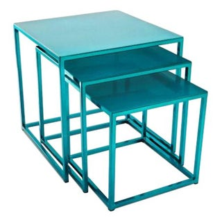 Cromatti Nesting Tables in Teal