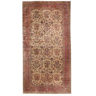Antique Oversize Kashan Carpet