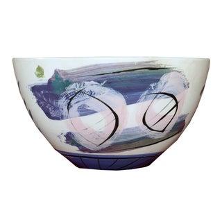 Hand Painted Glazed Ceramic Bowl