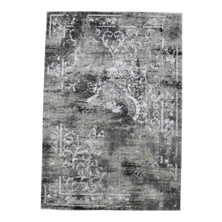 Distressed Gray Persian Rug - 5'3''x 7'7''
